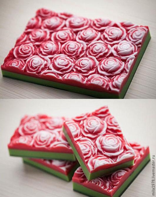 """Мыло ручной работы. Ярмарка Мастеров - ручная работа. Купить Эко-мыло """"РОЗЫ"""". Handmade. Комбинированный, мыло розы"""