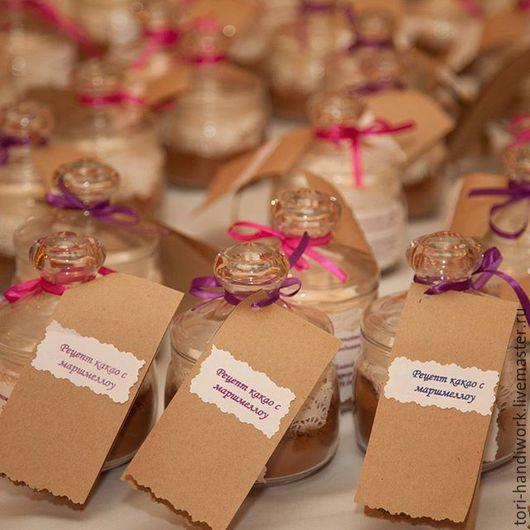 Свадебные аксессуары ручной работы. Ярмарка Мастеров - ручная работа. Купить Бонбоньерки на свадьбу. Handmade. Коричневый, маршмеллоу, бонбоньерка, вкусное