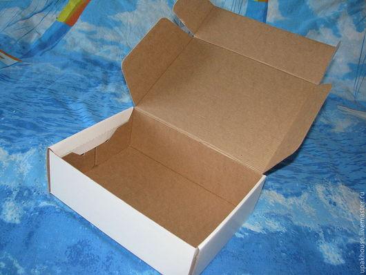 Упаковка ручной работы. Ярмарка Мастеров - ручная работа. Купить Гофрированная самосборная коробка. Handmade. Простая упаковка, белый