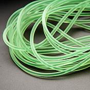Материалы для творчества ручной работы. Ярмарка Мастеров - ручная работа Шнур силиконовый 3 мм круглого сечения зеленый. Handmade.