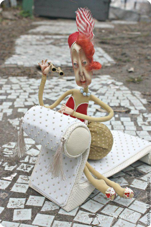 Коллекционные куклы ручной работы. Ярмарка Мастеров - ручная работа. Купить Бабушка Валенсия. Handmade. Ярко-красный, интерьерная кукла