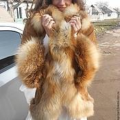 Пальто ручной работы. Ярмарка Мастеров - ручная работа Куртка,пальто,френч замшевый с отделкой из лисы. Handmade.
