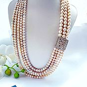 Украшения handmade. Livemaster - original item Necklace with natural pearls