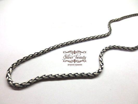 """Колье, бусы ручной работы. Ярмарка Мастеров - ручная работа. Купить Серебряная цепь """"Колосок"""". Handmade. Серебро, авторская работа"""