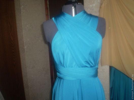 Платья ручной работы. Ярмарка Мастеров - ручная работа. Купить Платье -трансформер   2. Handmade. Голубой, платье для выпускного