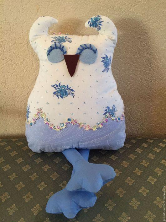"""Игрушки животные, ручной работы. Ярмарка Мастеров - ручная работа. Купить Игрушка """"Совенок"""". Handmade. Голубой, текстильная игрушка"""