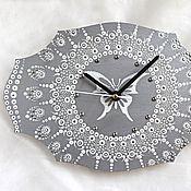 Для дома и интерьера handmade. Livemaster - original item Monochrome wall Clock Mandala. Handmade.