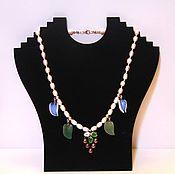 Украшения handmade. Livemaster - original item Pearl necklace with aventurine and aplicom. Handmade.