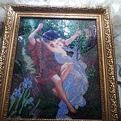 Картины и панно ручной работы. Ярмарка Мастеров - ручная работа влюбленные на качелях. Handmade.
