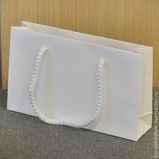 Упаковка ручной работы. Ярмарка Мастеров - ручная работа. Купить Пакет 20х12х5 белый с ручками веревочными. Handmade. Пакет