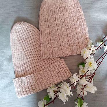 Аксессуары ручной работы. Ярмарка Мастеров - ручная работа Вязаные шапки-бини. Handmade.