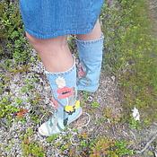 Обувь ручной работы handmade. Livemaster - original item boots macy`s denim. Handmade.