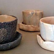 Цветы и флористика handmade. Livemaster - original item Ceramic pots for cacti and bonsai. Handmade.