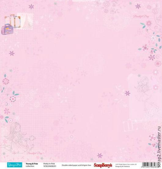 """Открытки и скрапбукинг ручной работы. Ярмарка Мастеров - ручная работа. Купить Скрап бумага"""" Подружки"""". Мир в розовом. Handmade. Разноцветный"""