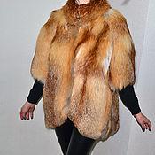 Одежда ручной работы. Ярмарка Мастеров - ручная работа Жилет из лисы. Handmade.