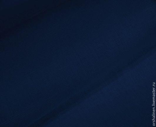Шитье ручной работы. Ярмарка Мастеров - ручная работа. Купить Ткань блузочно-сорочечная темно-синий. Handmade. Тёмно-синий