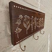 Для дома и интерьера handmade. Livemaster - original item Hangers and Hooks Wall Hanger Rustic Housekeeper Wooden Hanger. Handmade.