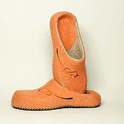 """Обувь ручной работы. Ярмарка Мастеров - ручная работа Валяные тапочки """"Оттиск каллы"""". Handmade."""
