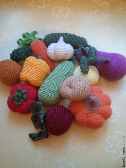 Еда ручной работы. Ярмарка Мастеров - ручная работа. Купить Овощной урожай. Handmade. Вязанные игрушки, развивающая игрушка