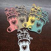 Материалы для творчества ручной работы. Ярмарка Мастеров - ручная работа Вырубка сапожек новогодний. Handmade.