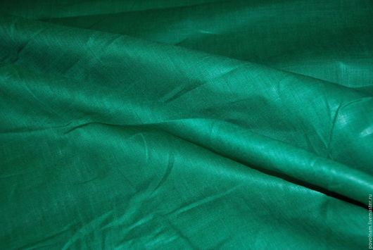 """Шитье ручной работы. Ярмарка Мастеров - ручная работа. Купить Лён 100% """"Ярко-зелёный"""" среднемягкий. Handmade. Зеленый"""