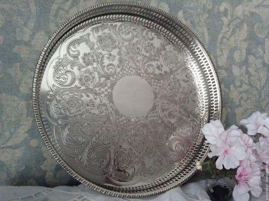 Винтажная посуда. Ярмарка Мастеров - ручная работа. Купить Поднос 21. Handmade. Серебряный, антиквариат, подарок, посеребрение, серебро
