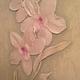 Картины цветов ручной работы. Заказать орхидея. Екатерина   роспись и лепнина (ayvazyan). Ярмарка Мастеров. Ручная лепка, лепнина