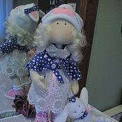 Куклы и игрушки ручной работы. Ярмарка Мастеров - ручная работа Текстильная кукла Девочка-Зайка, интерьерная текстильная кукла. Handmade.