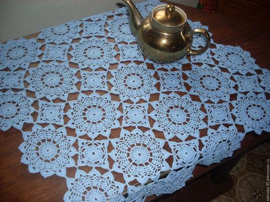 Текстиль, ковры ручной работы. Ярмарка Мастеров - ручная работа. Купить Салфетка ажурная большая. Handmade. Голубой, для дома и интерьера