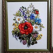 """Картины ручной работы. Ярмарка Мастеров - ручная работа Картина ,,Букет цветов"""". Handmade."""