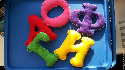 Развивающие игрушки ручной работы. Ярмарка Мастеров - ручная работа. Купить Алфавит из фетра. Handmade. Разноцветный, алфавит из фетра