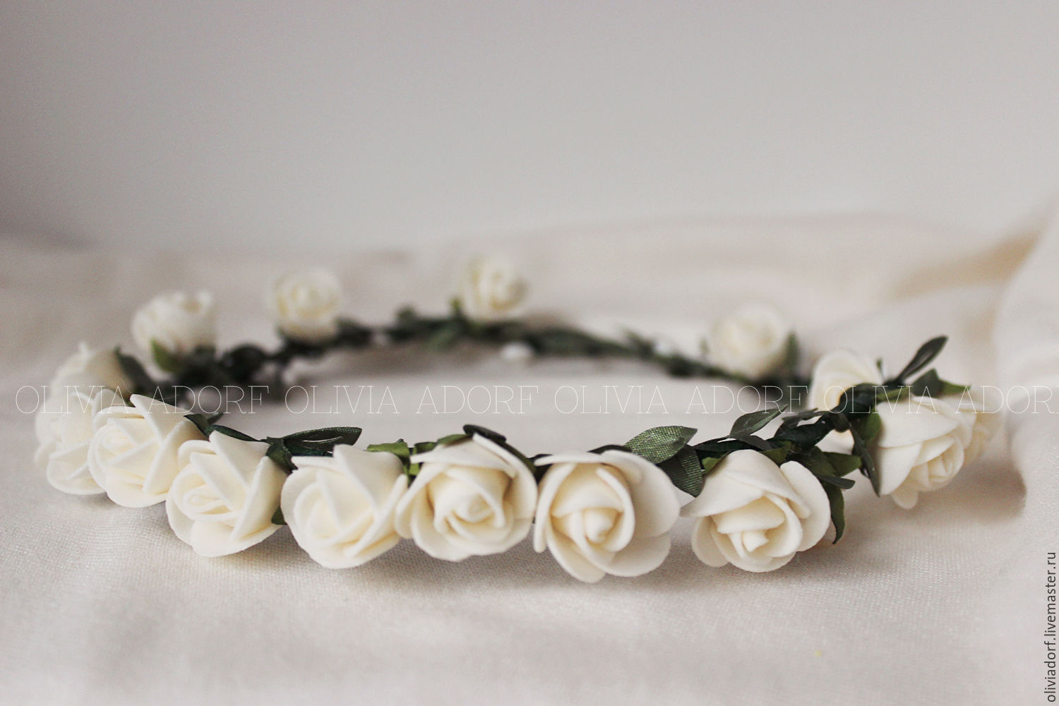 Flower crown with white roses bianca s23 shop online on buy flower crown with white roses bianca s23 izmirmasajfo