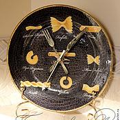 """Для дома и интерьера ручной работы. Ярмарка Мастеров - ручная работа Часы """"Время макарон"""". Handmade."""