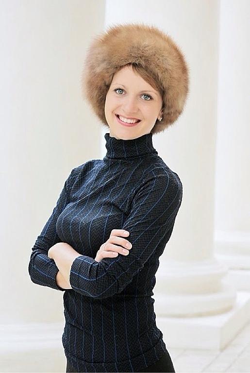 Marten Fur Beret - Real Fur Cap, Berets, Moscow,  Фото №1
