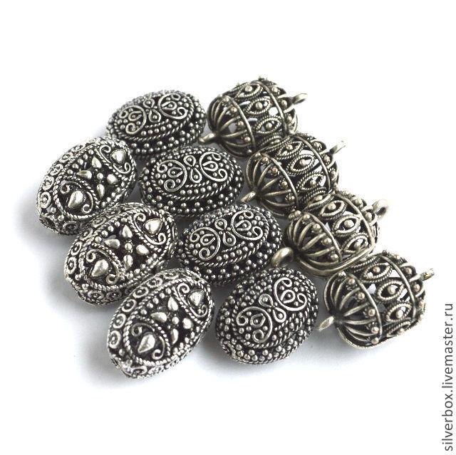 Бусины из коллекции ПЕРСИЯ Посеребрение Для создания Украшений Нина(SilverBox)