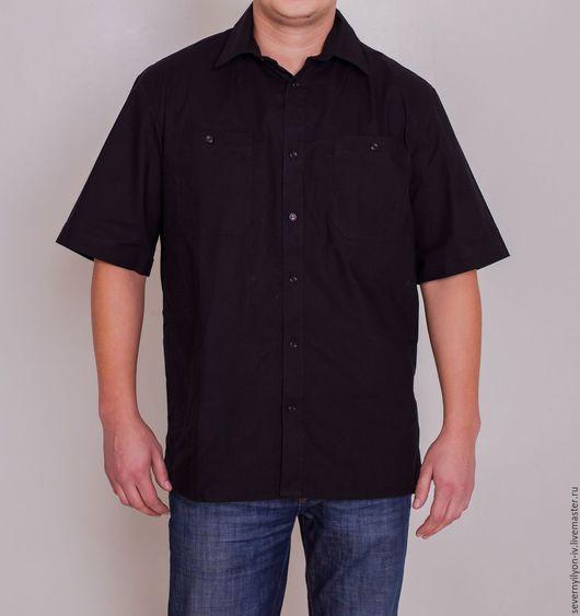 Для мужчин, ручной работы. Ярмарка Мастеров - ручная работа. Купить Мужская Рубашка. Handmade. Серый цвет, рубашка мужская
