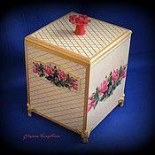 Короб ручной работы. Ярмарка Мастеров - ручная работа Короб с розами. Handmade.