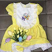 Одежда детская handmade. Livemaster - original item Dress: linen dress for girls