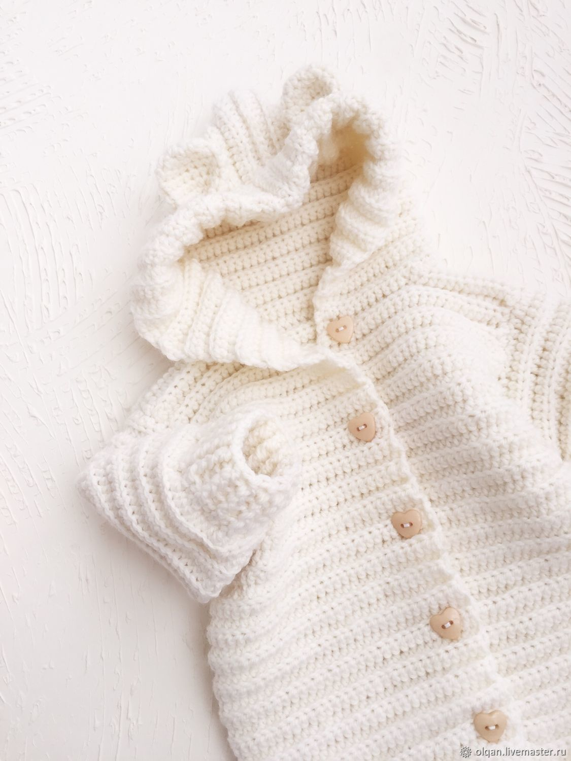Baby jumpsuit on discharge ivory color, Overall for children, Irkutsk,  Фото №1