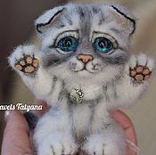 Куклы и игрушки handmade. Livemaster - original item Copyright felt toy kitten cat. Handmade.