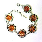 Bead bracelet handmade. Livemaster - original item Amber. Bracelet