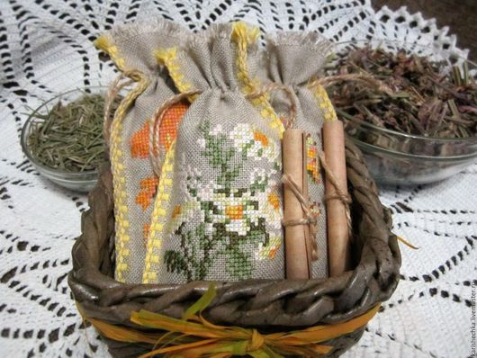 Подарочные наборы ручной работы. Ярмарка Мастеров - ручная работа. Купить Набор мешочков с ароматными травами. Handmade. Мешочки с травами