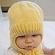 Для новорожденных, ручной работы. Заказать Шапка шлем трансформер. Наталья (babbie). Ярмарка Мастеров. Шапочка теплая, теплая шапка