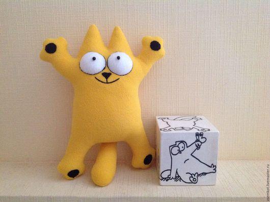 Автомобильные ручной работы. Ярмарка Мастеров - ручная работа. Купить Кот Саймона жёлтый Позитивный подарок. Handmade. Желтый
