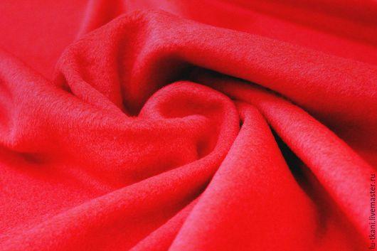 Шитье ручной работы. Ярмарка Мастеров - ручная работа. Купить Итальянская пальтовая ткань. Handmade. Ярко-красный, шерсть