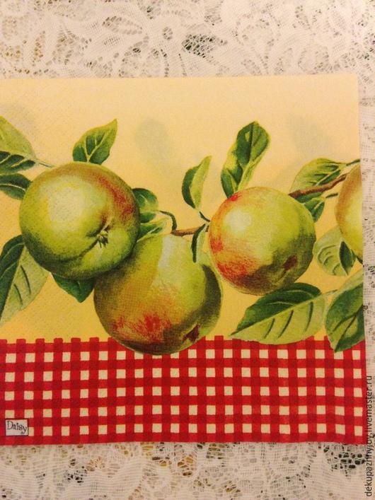 Яблоки на ветке с фоном-111 Декупажная радость