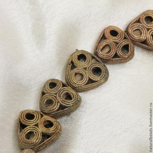 Для украшений ручной работы. Ярмарка Мастеров - ручная работа. Купить ТРЕУГОЛЬНИК  африканские металлические бусины. Handmade. Африка, для бус
