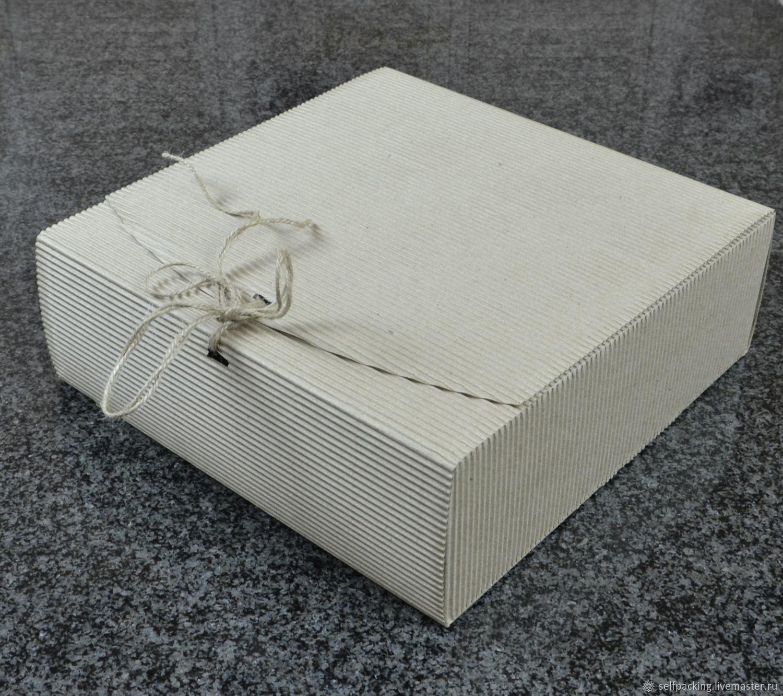 Коробка 30х30х10 см, двухслойный МГК, бурый, Коробки, Москва,  Фото №1