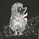 """Кофты и свитера ручной работы. Толстовка, свитшот с ручной росписью """"Ежик"""". BelkaStyle -кеды, футболки, зонты. Интернет-магазин Ярмарка Мастеров."""