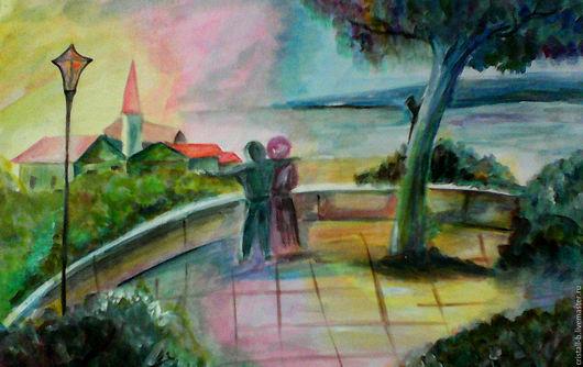 """Пейзаж ручной работы. Ярмарка Мастеров - ручная работа. Купить Картина на холсте """"Признание"""". Handmade. Комбинированный, картина в подарок"""